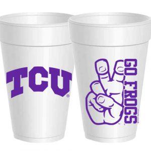 TCU GO FROGS STYROFOAM CUPS
