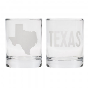 TEXAS ROCKS GLASS SET