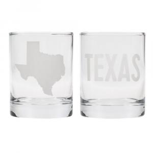 TEXAS ROCKS GLASS SET