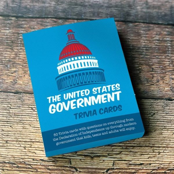 THE US GOVERNMENT TRIVIA CARDS