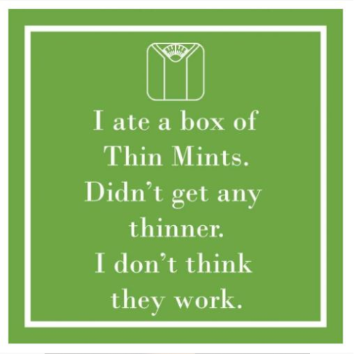 THIN MINTS BEVERAGE NAPKINS