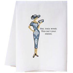 TRAIN WRECK FLOUR SACK TOWEL