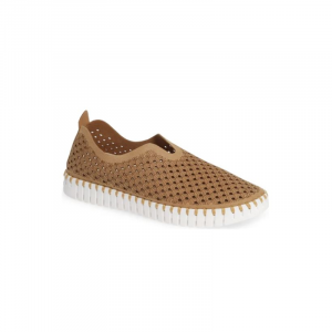 TULIP SLIP-ON WITH WHITE SOLE -LATTE