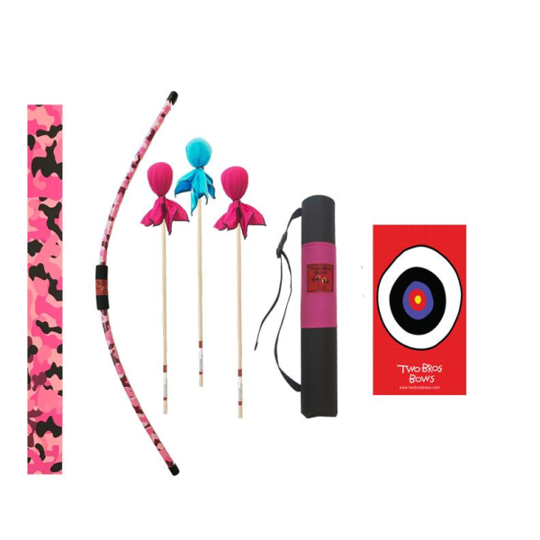 TWO BROS BOWS PINK CAMO ARCHERY COMBO SET