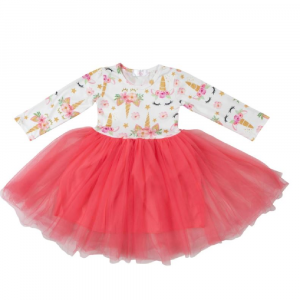 UNICORN DREAM CORAL TUTU DRESS