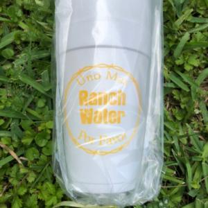 UNO MAS RANCH WATER STYROFOAM CUPS