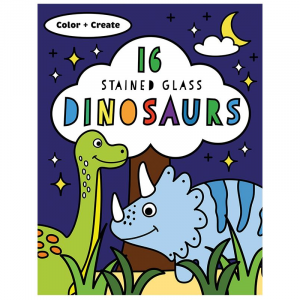 USBORNE 16 STAINED GLASS DINOSAURS
