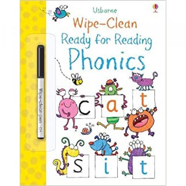 USBORNE WIPE CLEAN READY FOR PHONICS