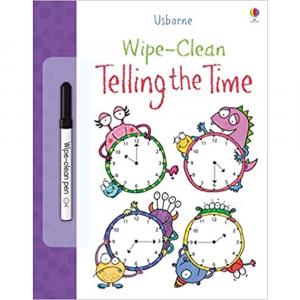 USBORNE WIPE CLEAN TELLING THE TIME