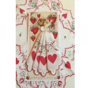 VALENTINE ANGEL HANKIE CARD