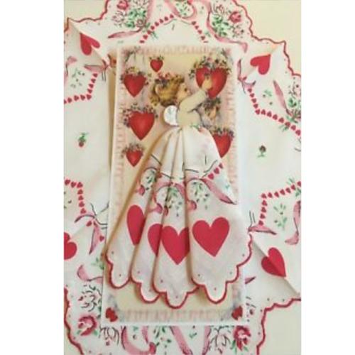 VALENTINE ANGEL HANKIE CARD