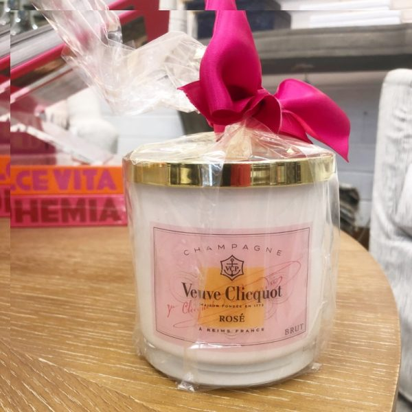 VEUVE CLICQUOT ROSE CANDLE- SMALL