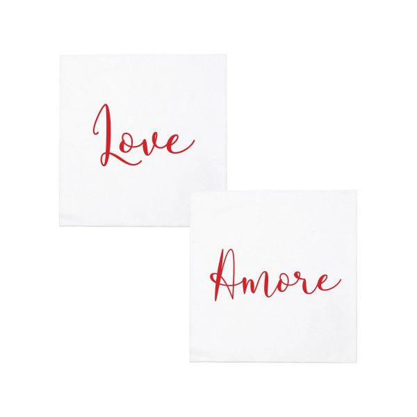 VIETRI LOVE/AMORE PAPERSOFT COCKTAIL NAPKINS