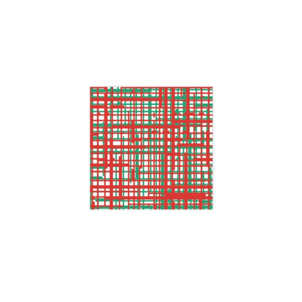 VIETRI RED AND GREEN PLAID PAPERSOFT COCKTAIL NAPKINS