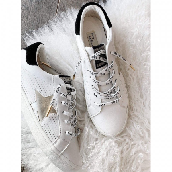 VINTAGE HAVANA WHITE WITH GOLD STAR SNEAKERS