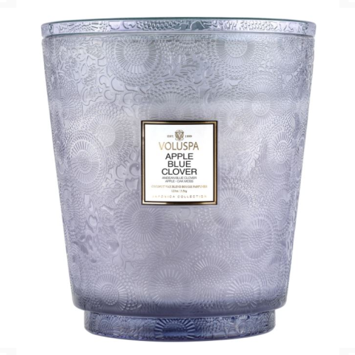VOLUSPA APPLE BLUE CLOVER 5 WICK CANDLE