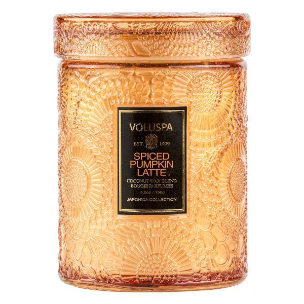 VOLUSPA SPICED PUMPKIN LATTE CANDLE SMALL JAR CANDLE