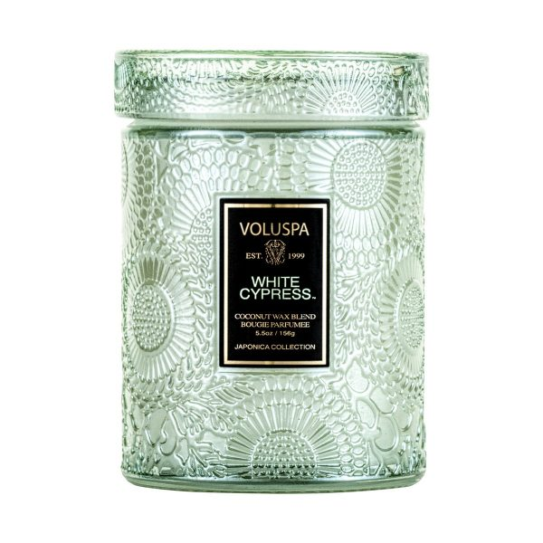 VOLUSPA WHITE CYPRESS SMALL JAR CANDLE
