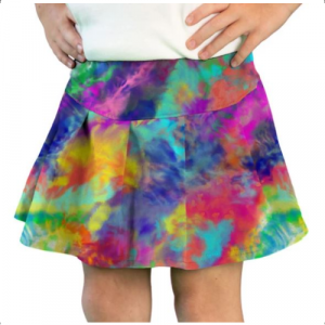 WATERCOLOR BRIGHT TENNIS SKIRT