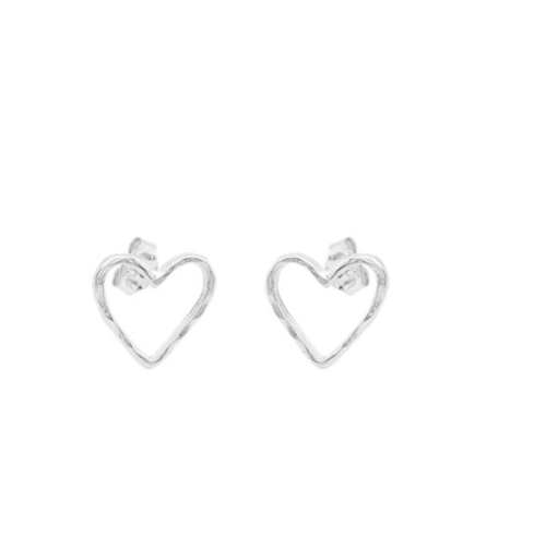 WAXING POETIC EVER OPEN HEART STUD EARRINGS