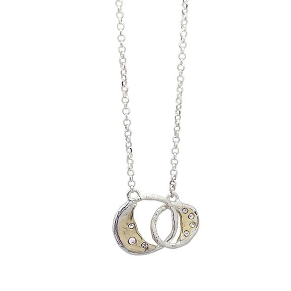 WAXING POETIC OTHER WORLD JOINED MOONS NECKLACE