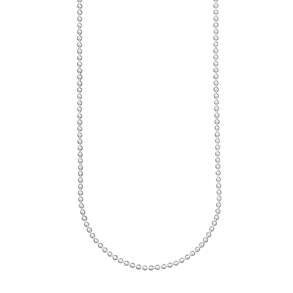 WAXING POETIC SILVER BABY BALL CHAIN - 18""