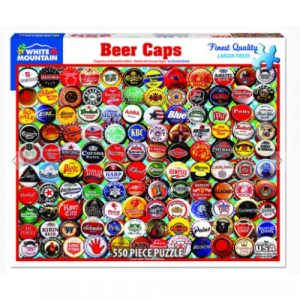 WHITE MOUNTAIN PUZZLES BEER BOTTLE CAPS 550 PIECE