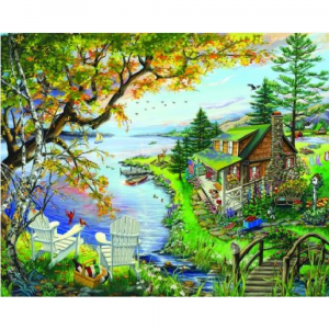 WHITE MOUNTAIN PUZZLES BY THE LAKE PUZZLE