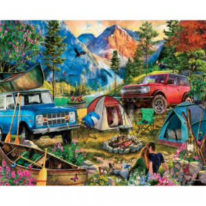 WHITE MOUNTAIN PUZZLES CAMPING TRIP 1000 PIECE