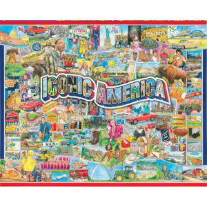 WHITE MOUNTAIN PUZZLES ICONIC AMERICA 1000 PIECE