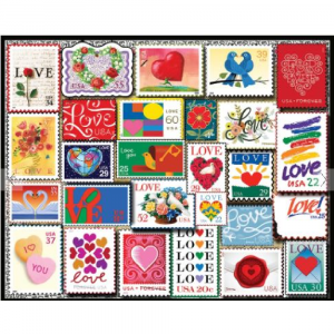 WHITE MOUNTAIN PUZZLES LOVE STAMPS PUZZLE