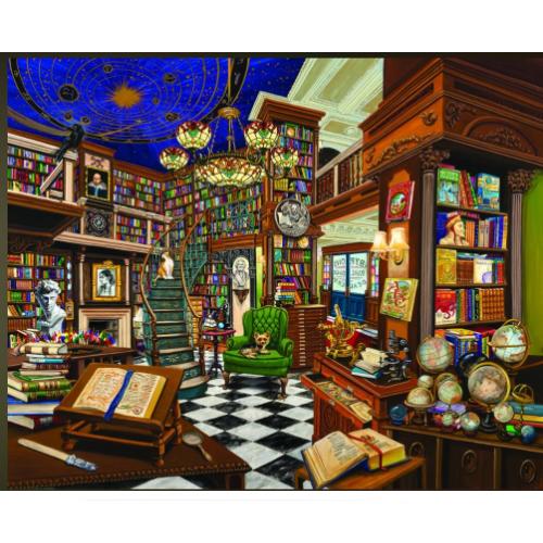 WHITE MOUNTAIN PUZZLES RARE BOOK STORE 1000 PIECE