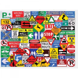 WHITE MOUNTAIN PUZZLES ROAD SIGNS 550 PIECE