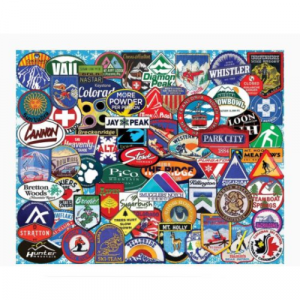 WHITE MOUNTAIN PUZZLES SKI BADGES 1000 PIECE PUZZLE