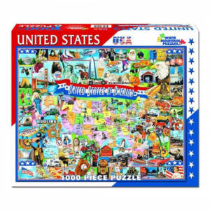 WHITE MOUNTAIN PUZZLES UNITED STATES OF AMERICA PUZZLE