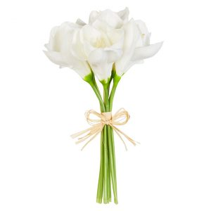 WHITE REAL TOUCH AMARYLLIS BUNDLE