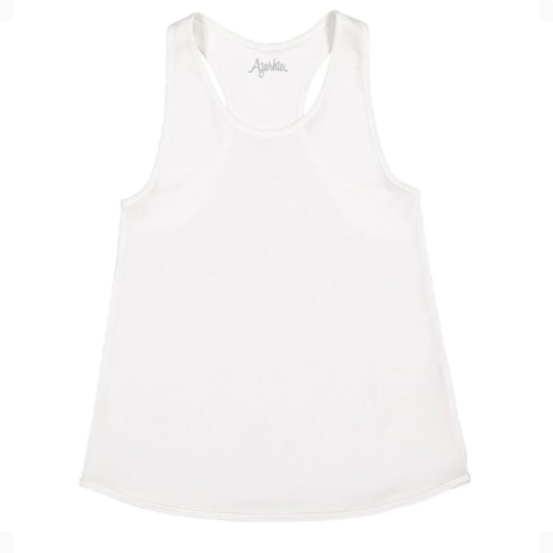WHITE TANK TOP WITH RACER BACK