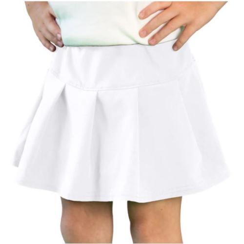 WHITE TENNIS SKORT