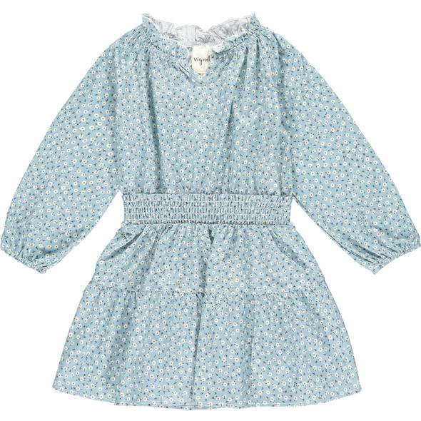 WILLOW DRESS IN BLUE FLORAL
