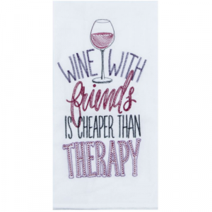 WINE THERAPY FLOUR SACK TOWEL