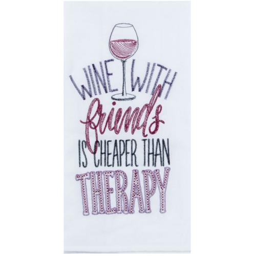 WINE THERAPY FLOUR SACK TOWEL