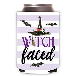 WITCH FACED CAN COOLER