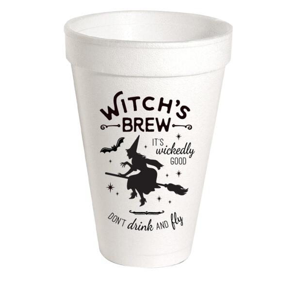 WITCH'S BREW STYROFOAM CUPS