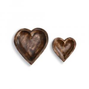 WOODEN HEART BOWLS