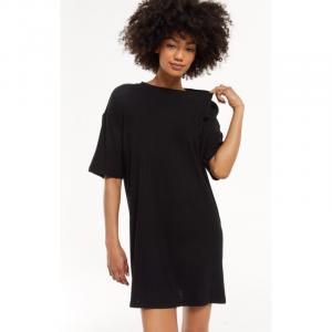 Z SUPPLY BLACK DENNY RIB DRESS