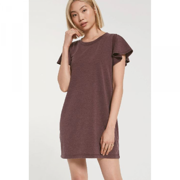 Z SUPPLY MERLOT FARREN TEE DRESS